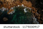 aerial view of waves  rocks and ... | Shutterstock . vector #1175030917