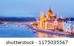 budapest skyline  hungary  ... | Shutterstock . vector #1175035567