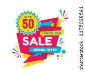 sale   vector creative banner... | Shutterstock .eps vector #1175038561