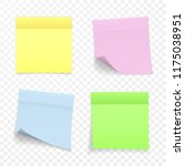 sticky paper note with shadow... | Shutterstock .eps vector #1175038951