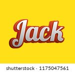 jack. popular nick names ... | Shutterstock . vector #1175047561