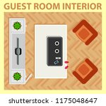 cozy guest room interior with... | Shutterstock .eps vector #1175048647