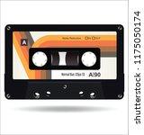 retro vintage cassette tape... | Shutterstock .eps vector #1175050174