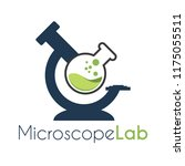 vector microscope lab with... | Shutterstock .eps vector #1175055511