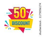 sale   vector creative banner... | Shutterstock .eps vector #1175056174