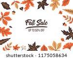 autumn sale banner design with... | Shutterstock .eps vector #1175058634