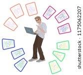 neural network. man  student...   Shutterstock .eps vector #1175062207