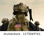 us soldiers equipment. us army.... | Shutterstock . vector #1175069761