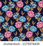 cute floral pattern in the... | Shutterstock .eps vector #1175076634