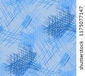 various pen hatches. seamless... | Shutterstock .eps vector #1175077147