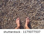 the man s feet on the small... | Shutterstock . vector #1175077537