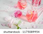 summer refreshment drinks.... | Shutterstock . vector #1175089954