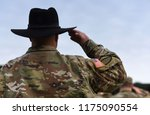 us soldiers giving salute. us... | Shutterstock . vector #1175090554