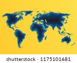 world map. travel and tourism... | Shutterstock .eps vector #1175101681