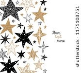 gold and black stars. cute... | Shutterstock .eps vector #1175103751
