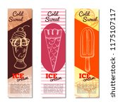 ice cream vertical banner.... | Shutterstock .eps vector #1175107117