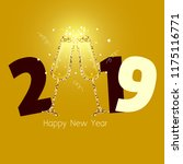 happy new 2019 year | Shutterstock . vector #1175116771