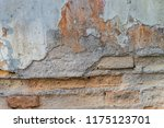the texture of concrete was...   Shutterstock . vector #1175123701