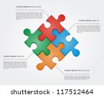 concept of colorful puzzle... | Shutterstock .eps vector #117512464