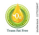 trans fat free label for... | Shutterstock .eps vector #1175126647