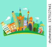 vector illustratiom of a flat... | Shutterstock .eps vector #1175127661