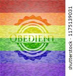 obedient on mosaic background... | Shutterstock .eps vector #1175139031