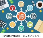 strategy and business vector... | Shutterstock .eps vector #1175143471