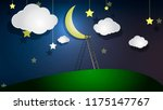 staircase to the moon | Shutterstock .eps vector #1175147767