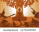 devil fight to lord of buddha... | Shutterstock .eps vector #1175149594