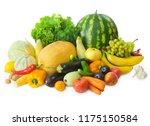 set of fresh fruits and...   Shutterstock . vector #1175150584