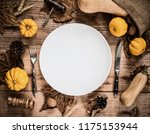 happy thanksgiving day. without ... | Shutterstock . vector #1175153944