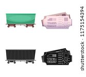 vector design of train and... | Shutterstock .eps vector #1175154394