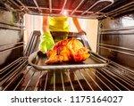 housewife prepares roast... | Shutterstock . vector #1175164027