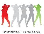 vector conceptual fat... | Shutterstock .eps vector #1175165731