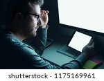 employee working and... | Shutterstock . vector #1175169961
