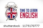 time to learn english   alarm... | Shutterstock .eps vector #1175170777