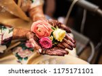 indian pakistani bride showing... | Shutterstock . vector #1175171101
