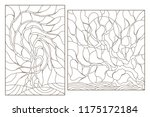 set contour illustrations of... | Shutterstock .eps vector #1175172184