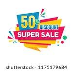 super sale   vector creative... | Shutterstock .eps vector #1175179684
