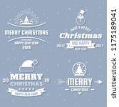 christmas vector logo for...   Shutterstock .eps vector #1175189041