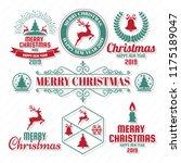 christmas vector logo for...   Shutterstock .eps vector #1175189047