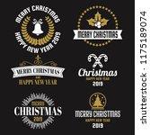 christmas vector logo for... | Shutterstock .eps vector #1175189074