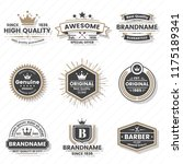 vintage retro vector logo for... | Shutterstock .eps vector #1175189341