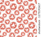 seamless pattern of red... | Shutterstock .eps vector #1175192617