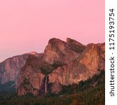 Yosemite Valley At Sunset With...