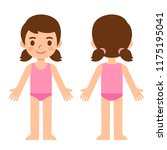 cute cartoon little girl in... | Shutterstock . vector #1175195041