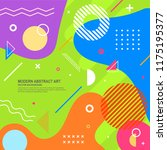 memphis style design... | Shutterstock .eps vector #1175195377