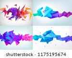 vector set of realistic... | Shutterstock .eps vector #1175195674