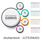 business circular infographic... | Shutterstock .eps vector #1175196421