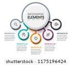 business circular infographic... | Shutterstock .eps vector #1175196424